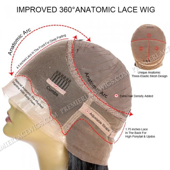 360°Anatomic Lace Wigs Cap Construction