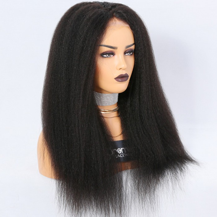 20 inches,natural color,150% density,Kinky straight