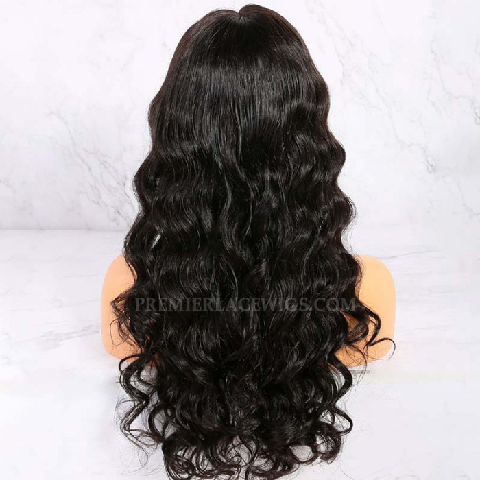 "22 inches,Peakmill Style Gorgeous Long Wavy 6"" Deep Middle Part 360° Lace Wigs"