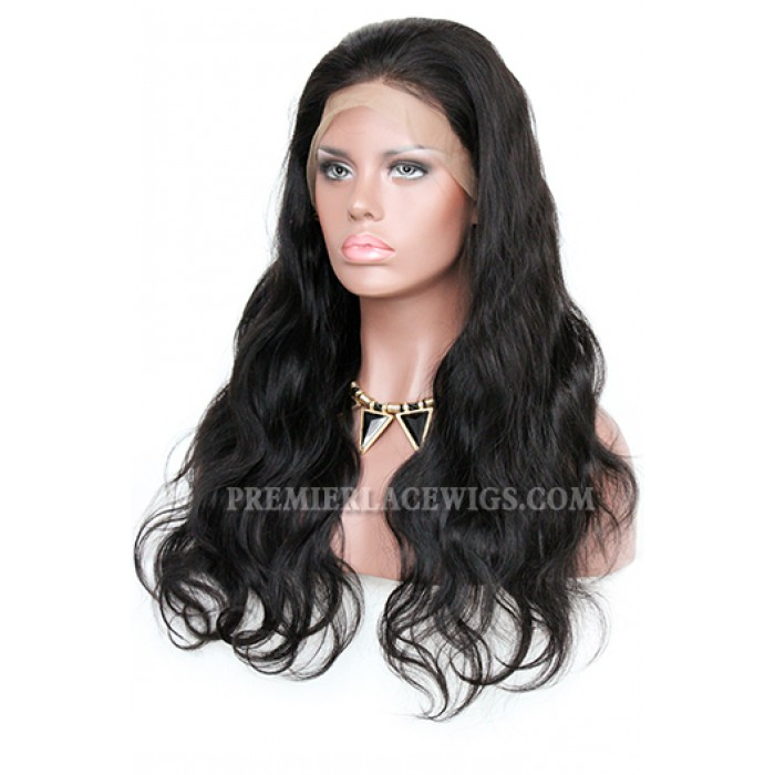 Body Wave Indian Remy Hair Improved 360°Anatomic Lace Wigs,150% Thick Density ,Pre-Plucked Hairline