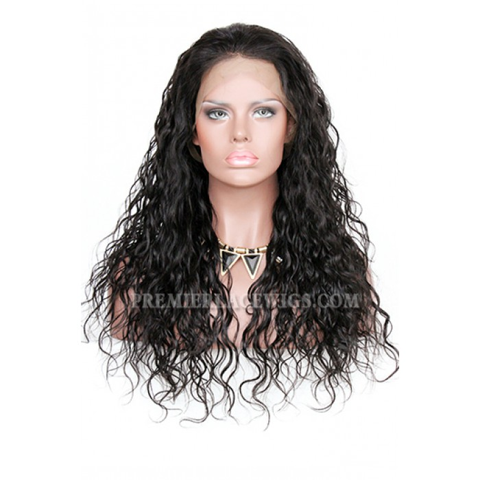 Loose Curly Indian Remy Hair Improved 360°Anatomic Lace Wigs,150% Thick Density ,Pre-Plucked Hairline