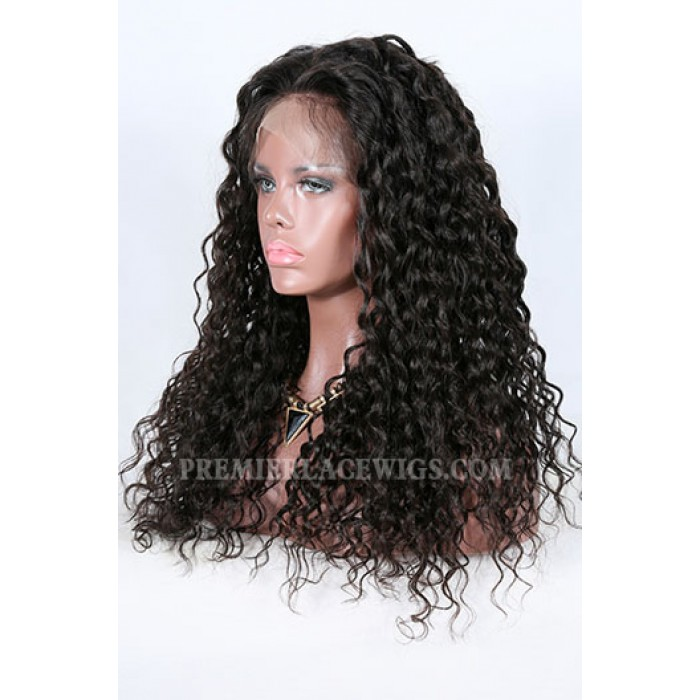 Sexy Natural Curls Brazilian Virgin Hair Improved 360°Anatomic Lace Wigs,150% Thick Density ,Pre-Plucked Hairline