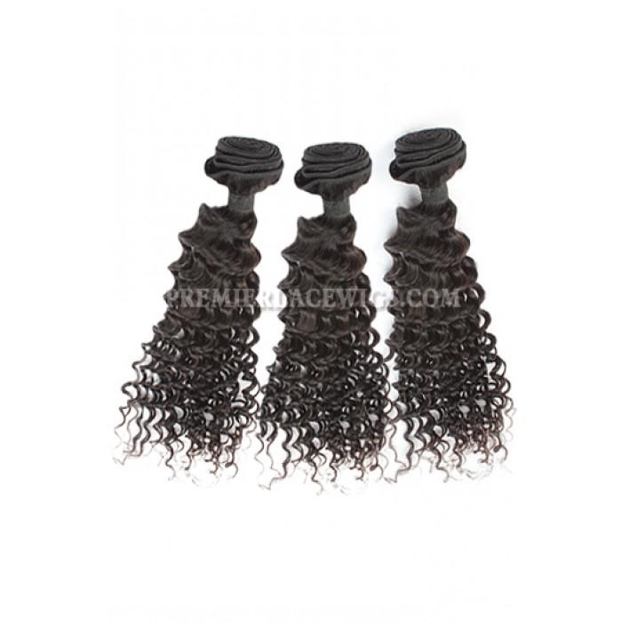 3 Bundles Deal Peruvian Virgin Hair Natural Color Deep Body Wave Hair Extension