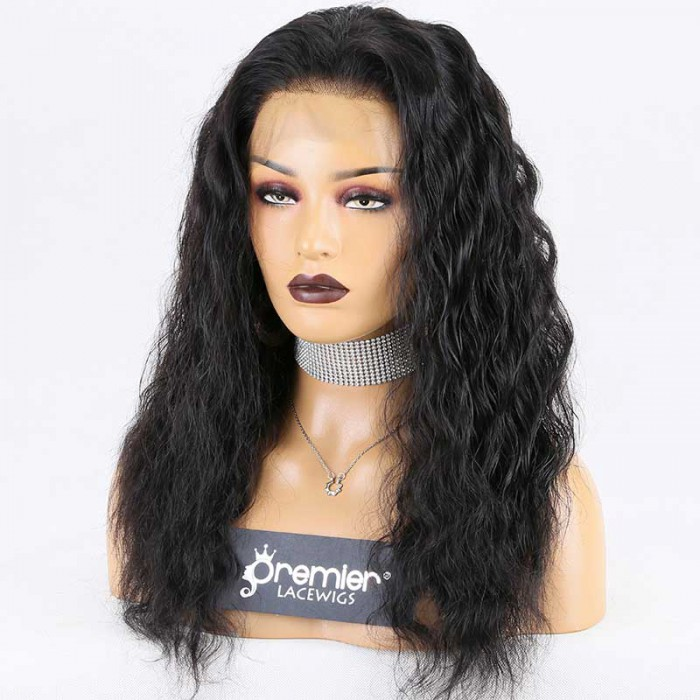 """Super Deal 4.5"""" Lace 360 Wig,Indian Remy Hair 1B# Color,18 inches Deep Body Wave"""