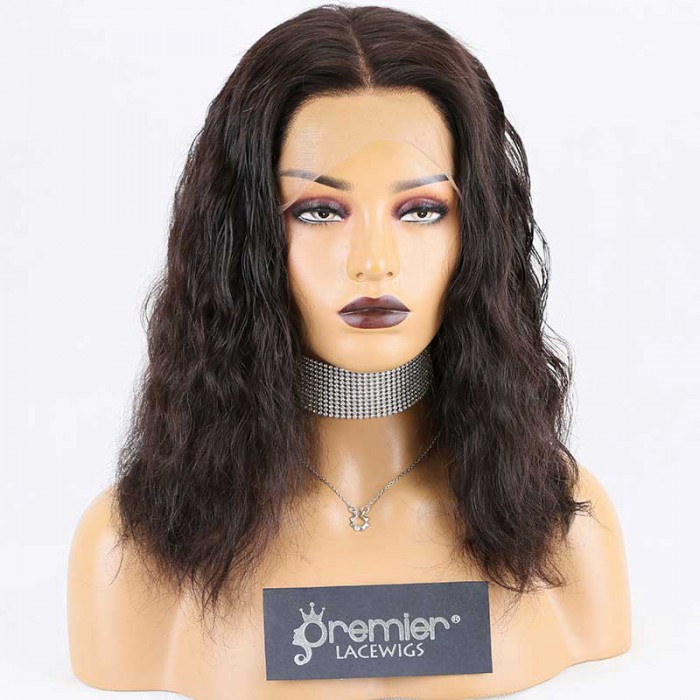 """Super Deal 4.5"""" Lace 360 Wig,Indian Remy Hair Natural Color,14 inches Loose Curl"""
