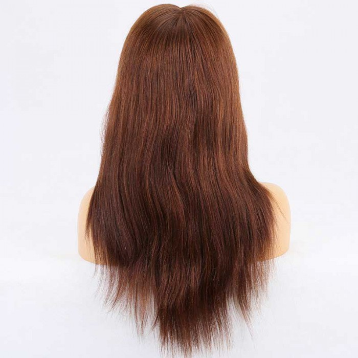 Super Deal Silk Top Full Lace Wig,Indian Remy Hair 4#,16 inches Yaki Straight