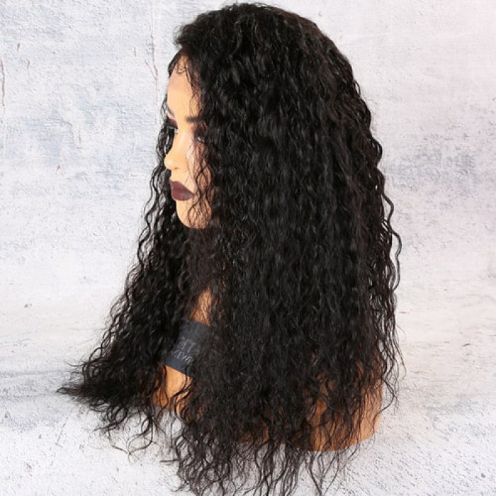 Permanent Root To Tip Loose Curls Lace Front Wig