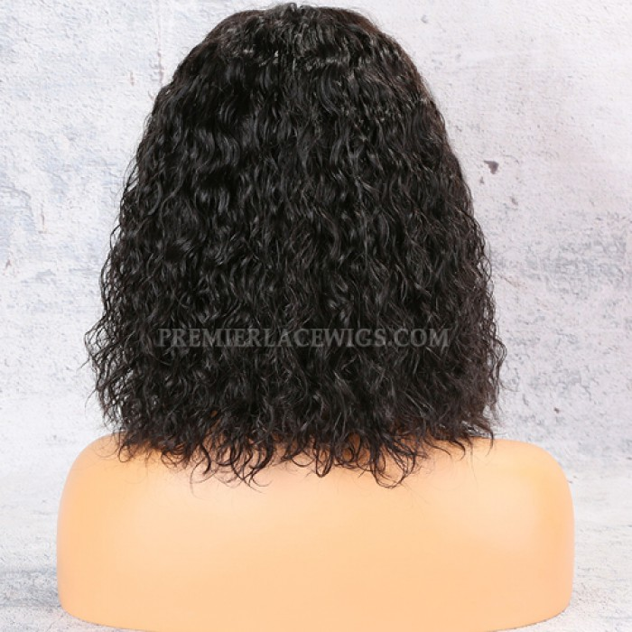 Textured Natural Curls Bob Lace Front Wig