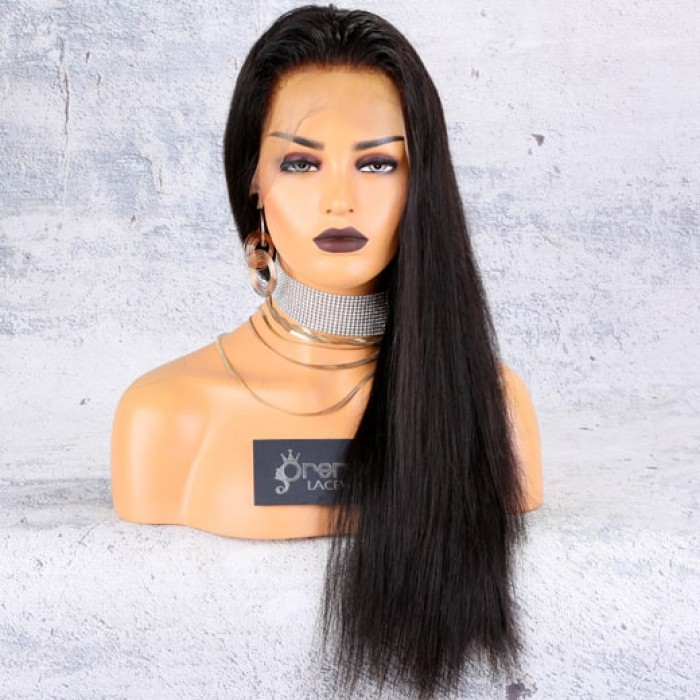 Silky Straight 360 Lace Wig,20 inches, natural color,180% density