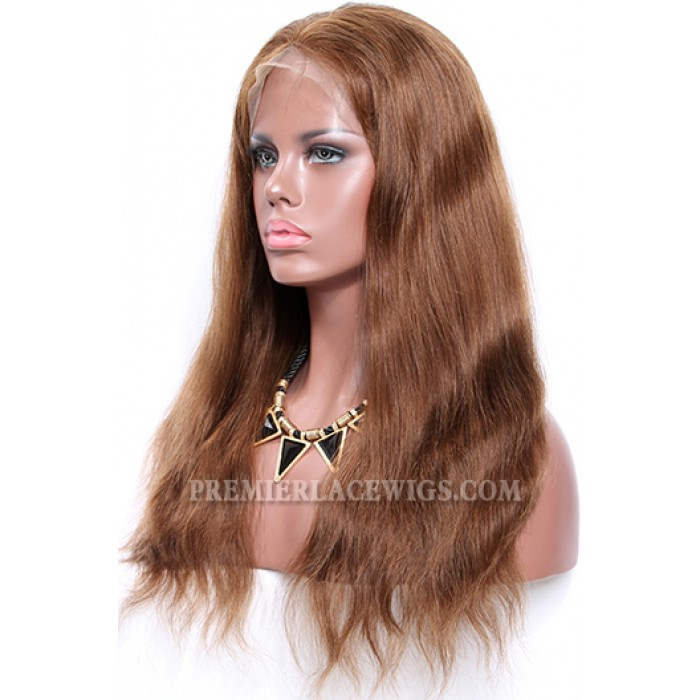4/30# Highlights Color Lace Front Wigs Indian Remy Human Hair Natural Straight