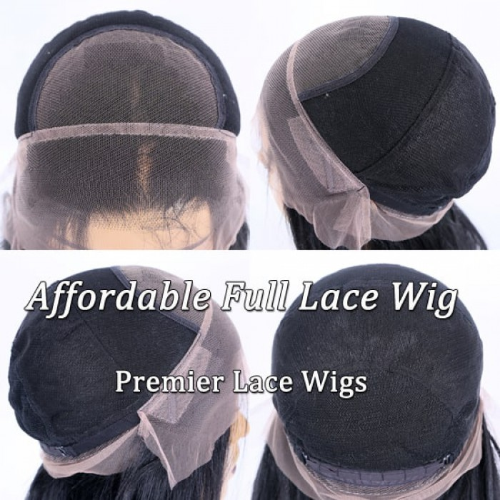 Full lace wig with adjustable straps