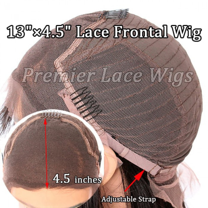 4.5 inches lace front wig