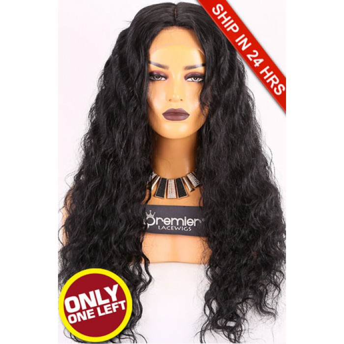 Super Deal Silk Top Full Lace Wig,Indian Remy Hair 1#,24 inches Wavy 150% Density, Small Size,Medium Brown Lace