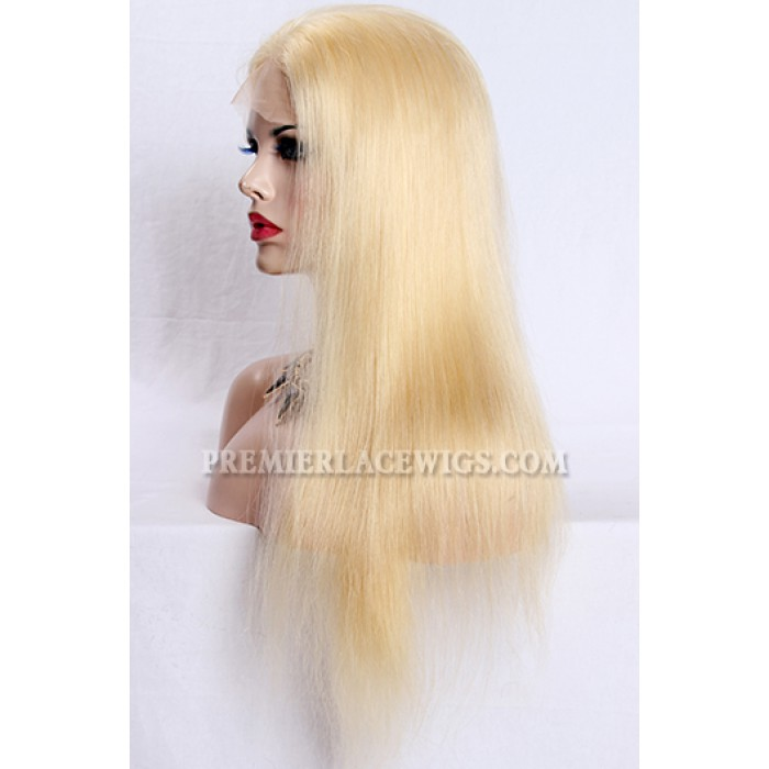 20 inches ,#613 Blonde Lace Front Wigs Natural Straight Chinese Virgin Hair