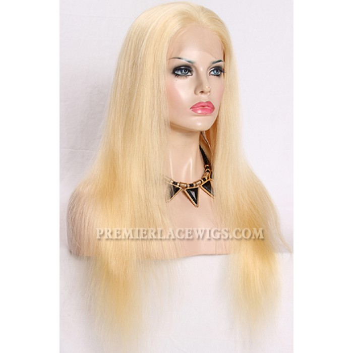 20 inches , 613# blonde color full lace wigs