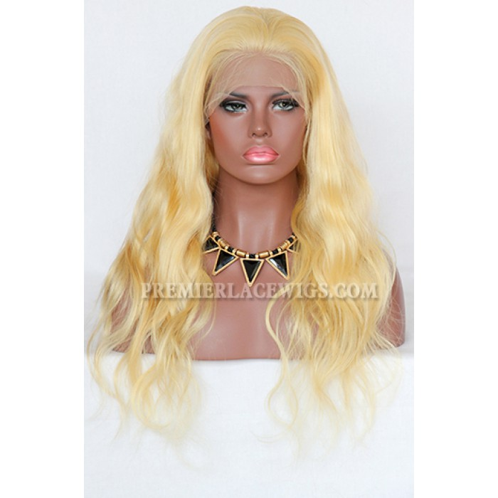 20 inches ,120% normal density ,613# blonde hair full lace wig
