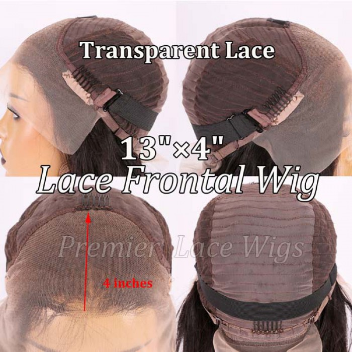 "Transparent Lace 13""x4"" Lace Frontal Wig"