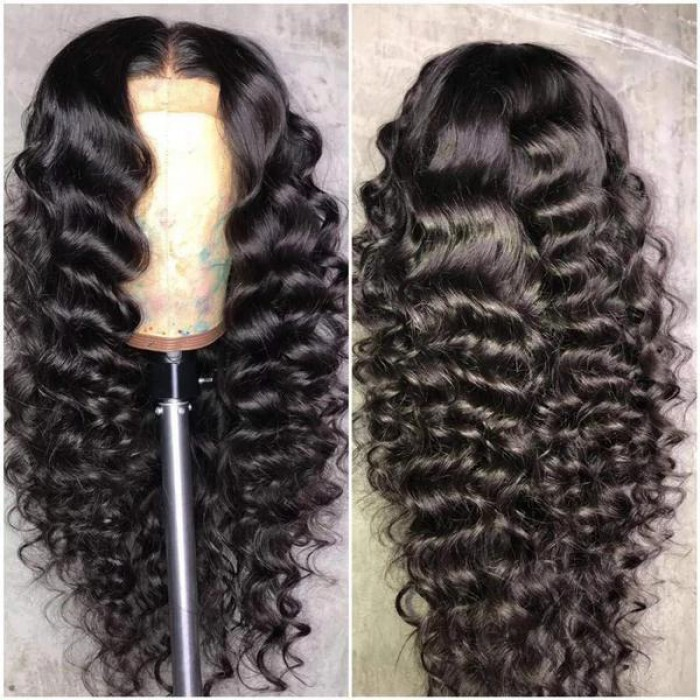 "Loose Curly Hair 13""x6"" Lace Frontal Wig"