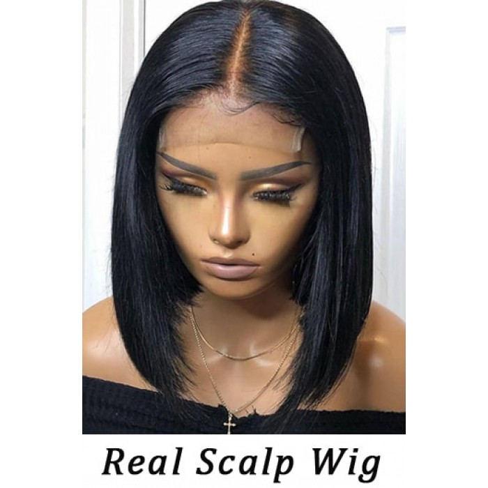 Real Scalp Silk Top Bob Cut