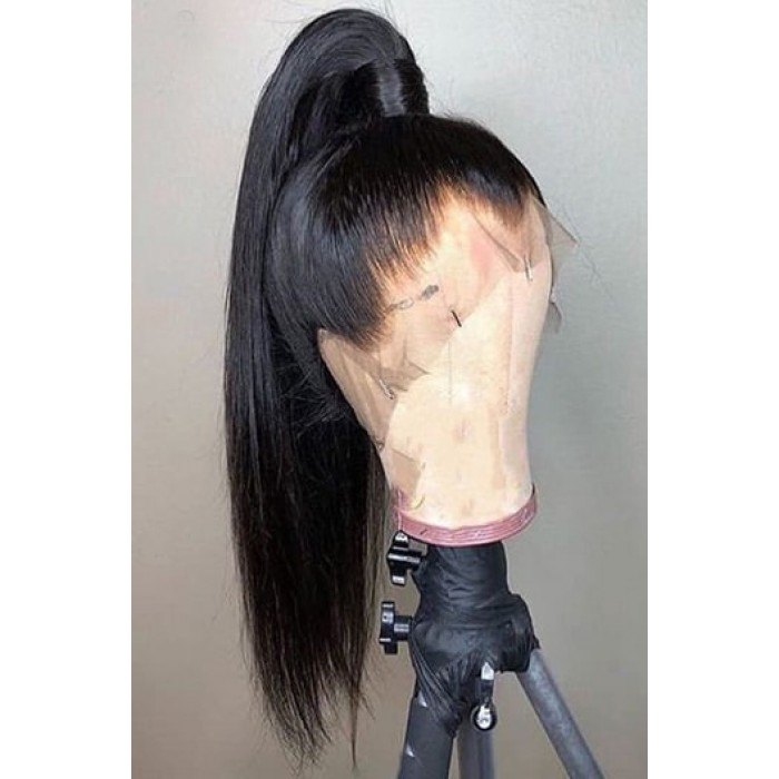 Yaki Straight 6 Deep Part 360 Lace Wigs Indian Remy Hair 150