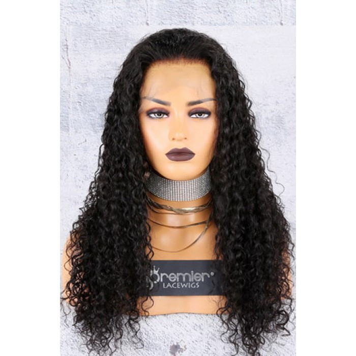 Water Wave Indian Remy Hair 360° Lace Wigs
