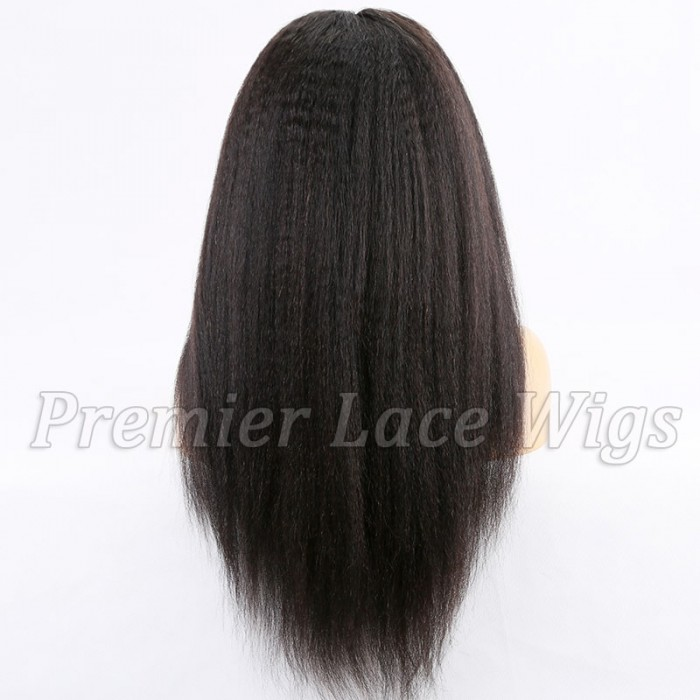 "22 inches, Kinky Straight 13""x6"" Lace Frontal Wig"
