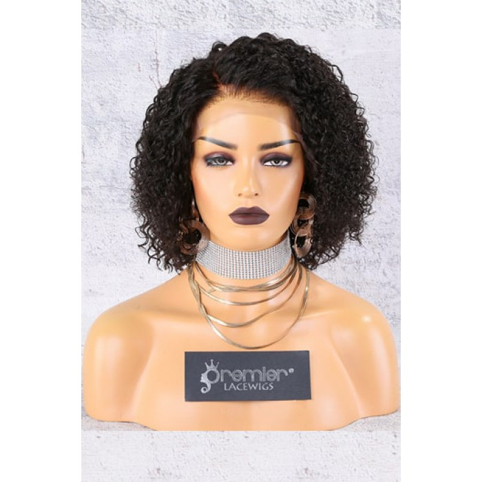 """13""""x6"""" Lace Frontal Wig,Side Part Textured Bob"""