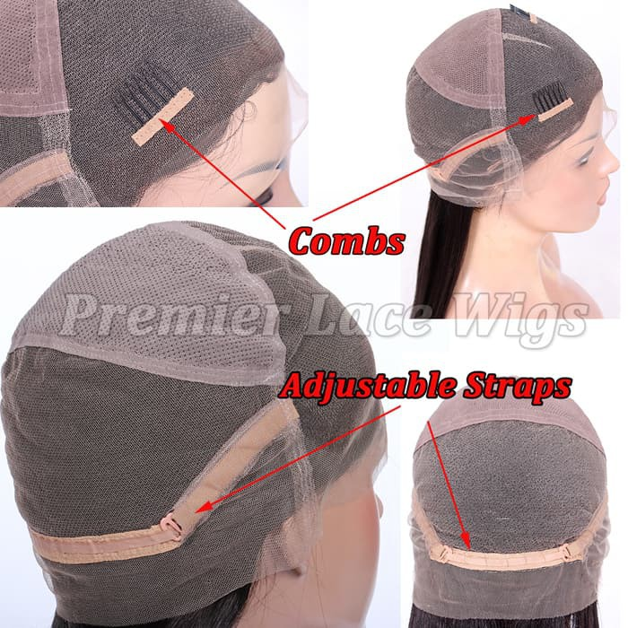 Adjustable straps and combs