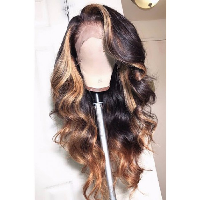 Blonde Highlights Ombre Wavy Hair