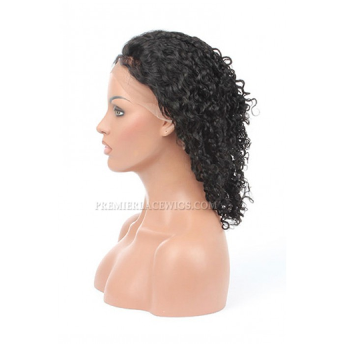 Indian Remy Hair Full Lace Wigs 10MM Curl Style