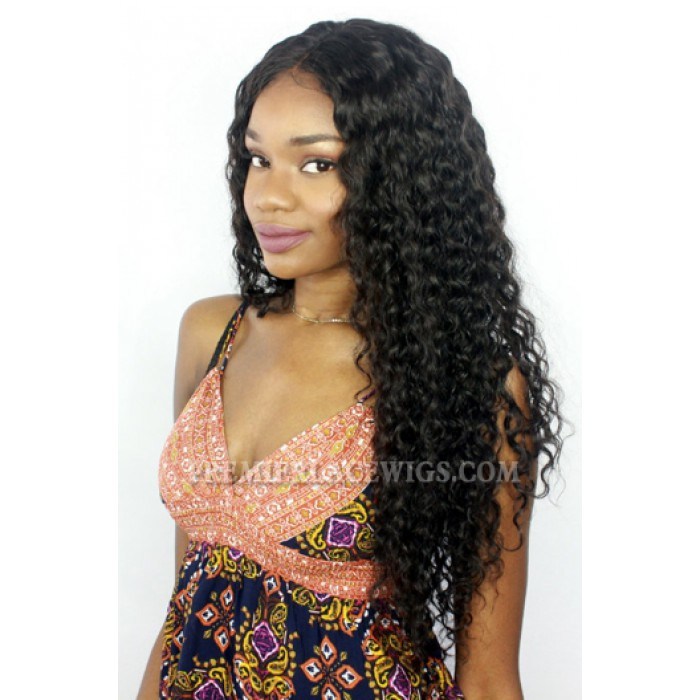 24inches ,180% density Brazilian Virgin Hair Gorgeous Sexy Big Curls