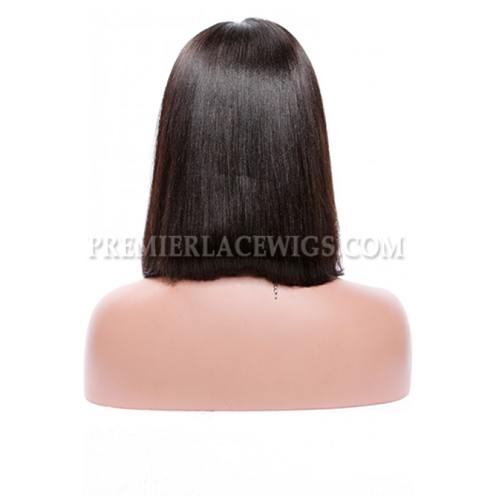 "A-Line Cut Bob Style,Deep Middle Part,4.5"" Pre-Plucked Lace Front Wig"