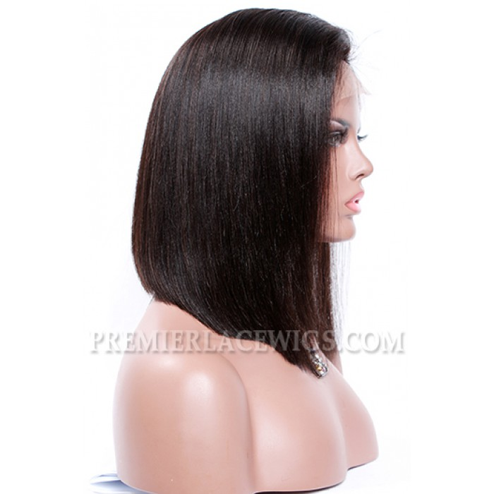 """A-Line Cut Bob Style,Deep C Side Part,4.5"""" Pre-Plucked Lace Front Wig"""