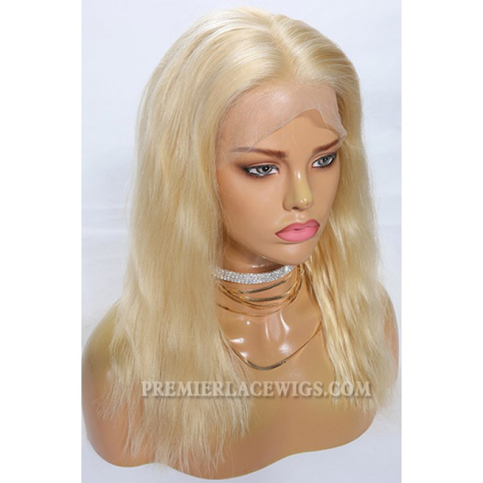 Miracle's Best Blonde Hair Chinese Virgin Human Hair Full Lace Wigs Bleached Blonde Bob For Black Women