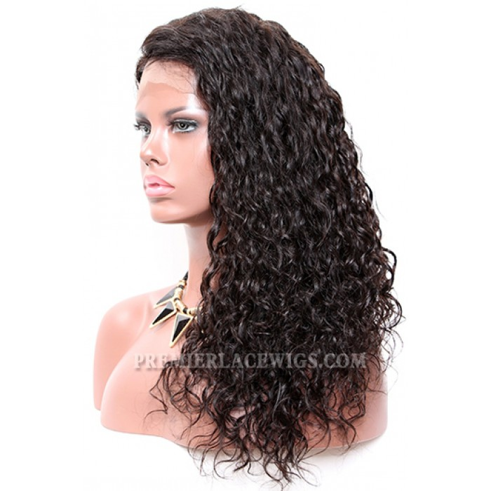 "Permanent Root To Tip Loose Curls Type 3B,4.5"" Deep C Side Part Pre-Plucked Lace Front Wig"
