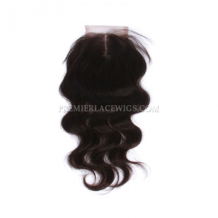 middle part front lace closure
