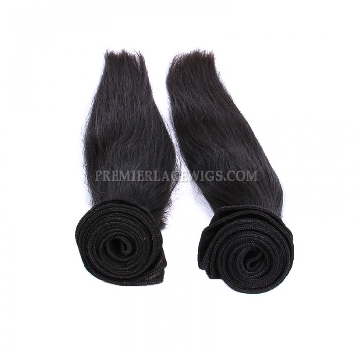 Peruvian Virgin Hair Weave Silky Straight Hair 2 Bundles Deal