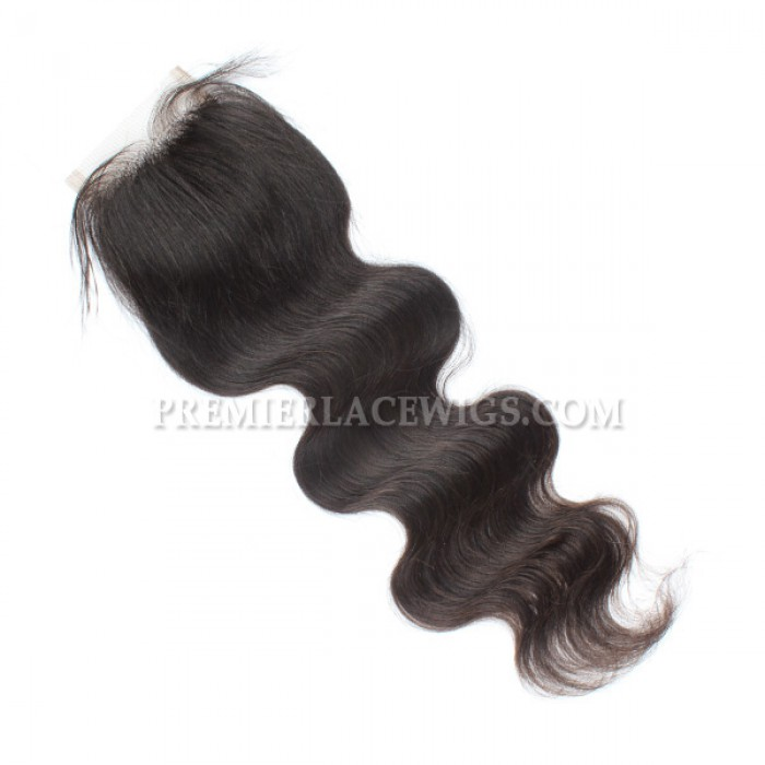 Brazilian virgin hair lace closure free parting with baby hair bleached knots
