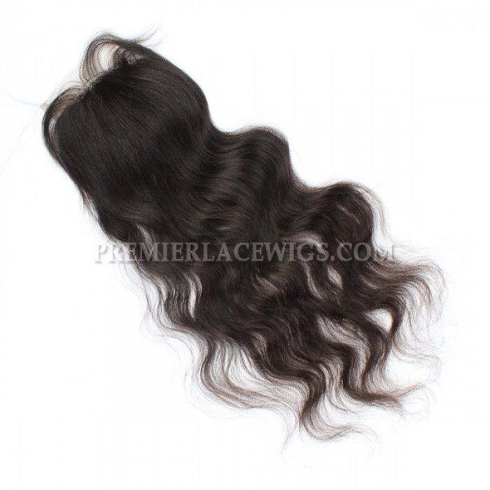 Brazilian Virgin Hair Lace Closure Natural Color Natural Straight 4x4inches