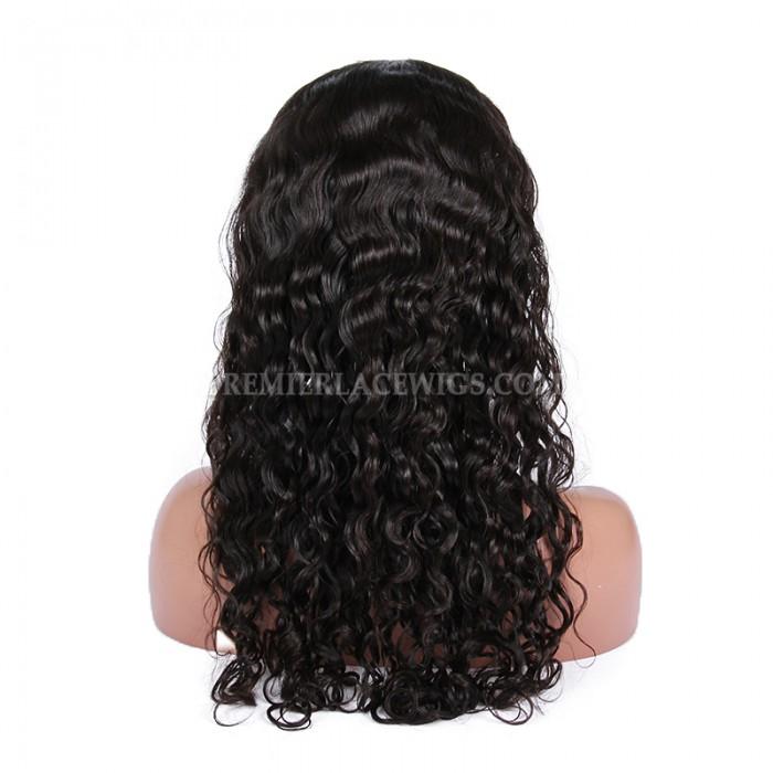 Brazilian virgin hair peruvian curl full lace wigs