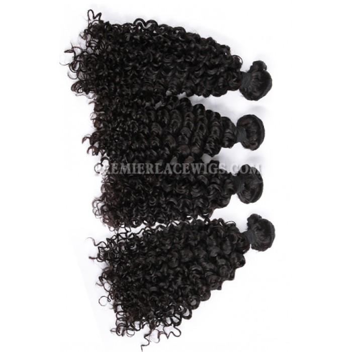 Peruvian Virgin Hair Water Wave Hair Extension 4 Bundles Deal