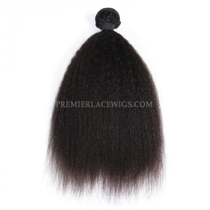 Peruvian Virgin Hair Weave Wefts Kinky Straight 1 Bundle