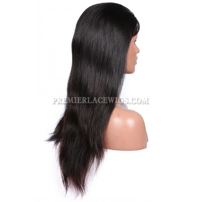 In stock Brazilian Virgin Hair Full Lace Wigs Silky Straight