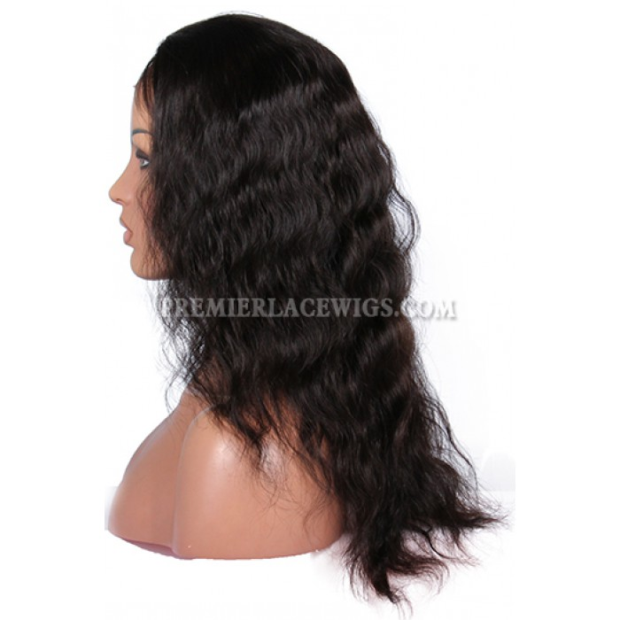 natural wave remy human hair glueless full lace wigs