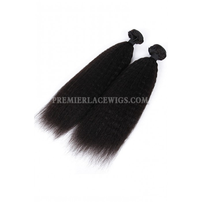 Indian Virgin Hair Weaves Kinky Straight 3 Bundles Deal
