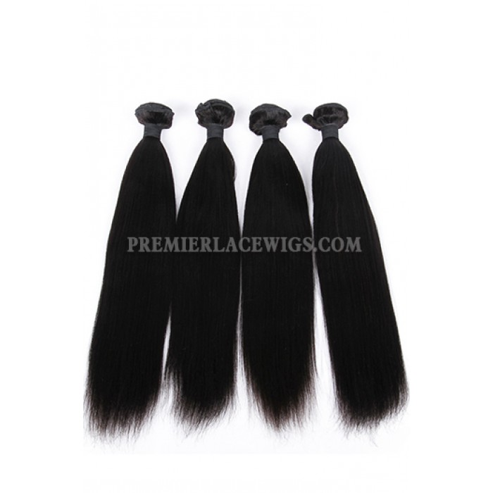 Indian Virgin Hair Weaves Yaki Straight