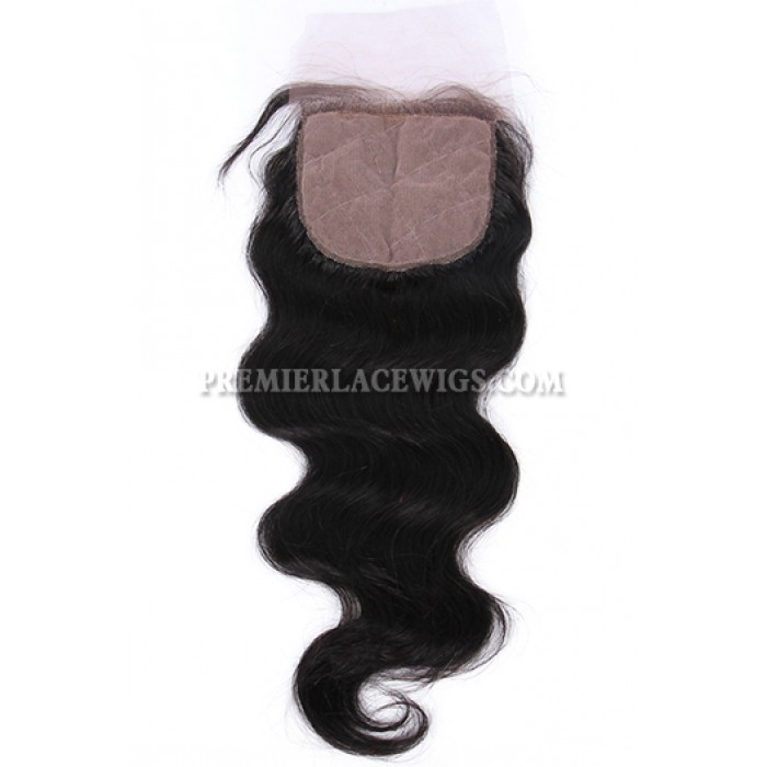 Body Wave Virgin Indian Human Hair Extension A Silk Top Closure With 4 Bundles Deal