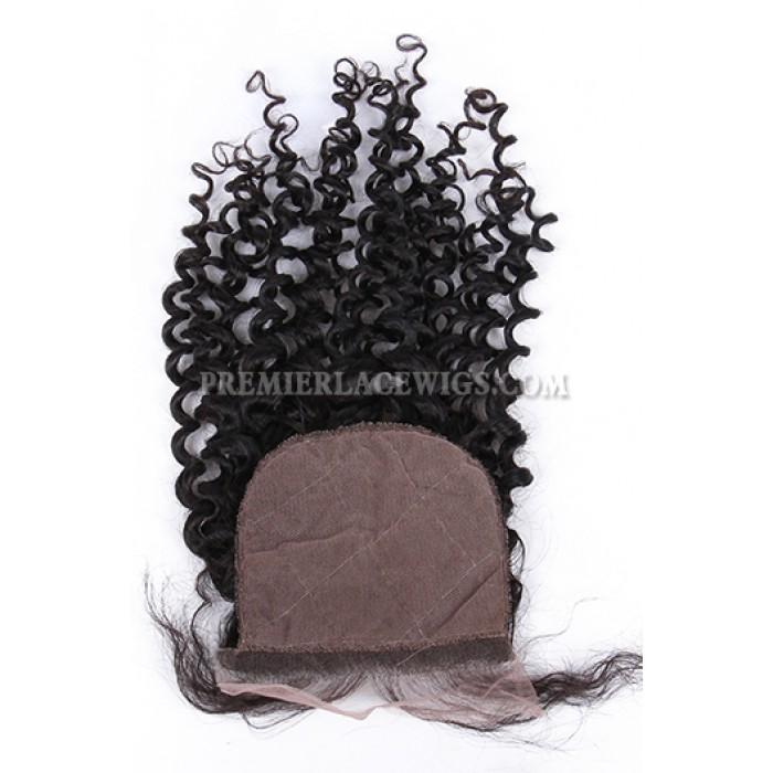 Water Wave Virgin Indian Human Hair Extension A Silk Top Closure With 4 Bundles Deal