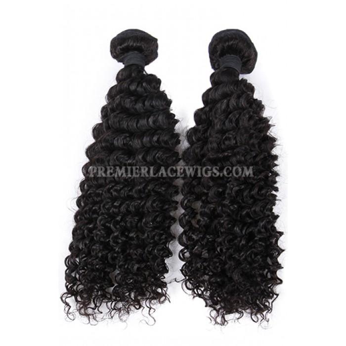 Hair Weft Deep Wavy Indian Virgin Human Hair