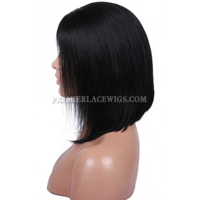 Charming Short Bob Cut Human Hair Glueless Lace Wigs